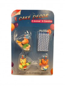 Cake Decor Candles 9 pc