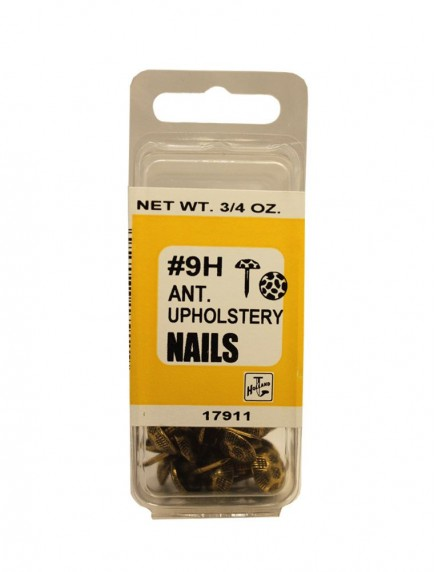 Ant. Upholstery Nails #9H 24 ct