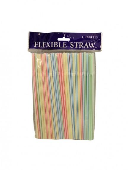 Flexible Drinking Straws 200 ct