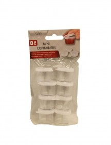 Mini Containers with Lid 8 pk