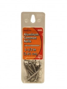 "Aluminum Common Nails 1 1/2"" 0.75 oz"