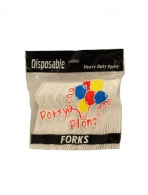 Disposable Heavy Duty Plastic Forks 51 ct