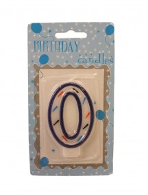 Birthday Number 0 Candle - Blue