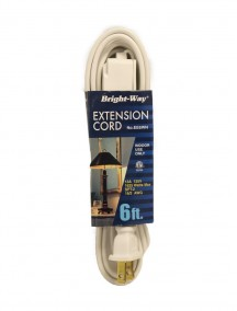 Bright-Way Extension Cord 6 ft - White