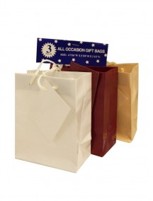 All Occasion Mini Gift Bags 3 pk - Assorted Colors