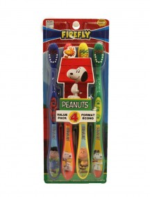 Firefly Kids Soft Toothbrushes 4 Pk - Peanuts