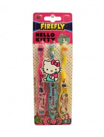 Firefly Kids Soft Toothbrushes 3 pk - Hello Kitty