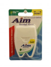 Aim Dental Floss - Mint Wax Nylon
