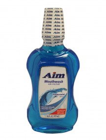 Aim Mouthwash with Calcium 16 fl oz - Peppermint Flavor