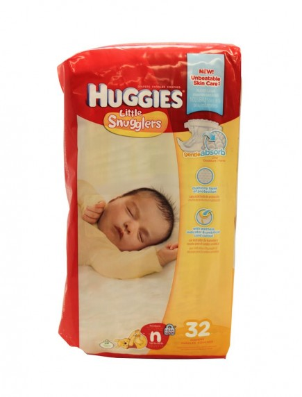 Huggies Little Snugglers Diapers 32 ct - Newborn