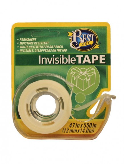 Best Yet Invisible Tape 1 ct - 0.47 in x 550 in