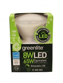 Greenlite LED BR30 Floodlight Bulb 8w/65w 1 Ct