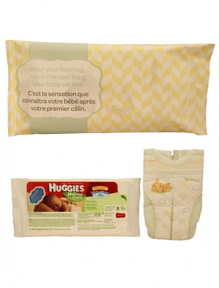 Huggies 2 pc Samples - Little Snugglers 1 ct Diaper - Newborn Size & Huggies Natural Care Baby Wipes 8 ct - Fragrance Free