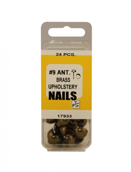 Ant. Brass Upholstery Nails #9 - 24 ct
