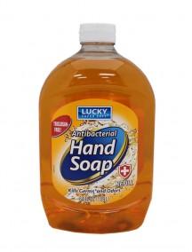 Lucky Antibacterial Liquid Hand Soap 64 fl oz Refill