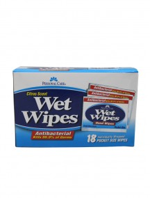 Personal Care Antibacterial Wet Wipes 18 ct - Citrus Scent