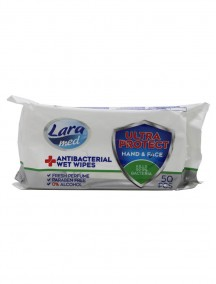 Lara Med Antibacterial Wet Wipes 50 ct