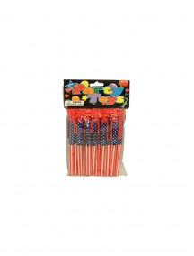 American Flag Pen with Neck Cord 12 pk