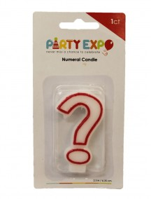 Birthday Candle ? - Red Outline