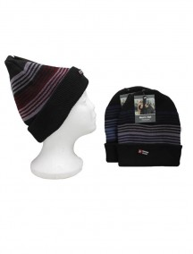 Men Insulated Hat - Assorted Colored Stripe