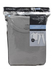 Men Thermal Set 2 Piece - Size XL/XXL - Grey Color