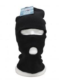 Full Face Ski Mask 2 Hole - Black