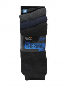 Men Thermal Socks 3 pk Size 10-13  - Assorted Colors