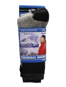 Men Thermal Socks Boot Length 4 pk Size 10-13