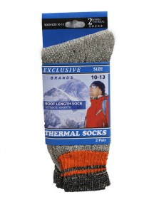 Men Thermal Socks Boot Length 2 pk Size 10-13