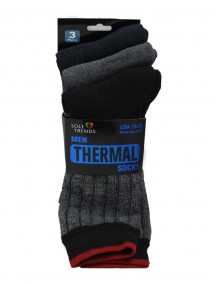 Men Thermal Socks 3 pk Size 10-13