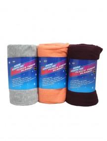 Fleece Throw Blanket - Assorted Colors
