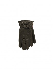Winter Wear Mens Black Gloves with Grip Dots