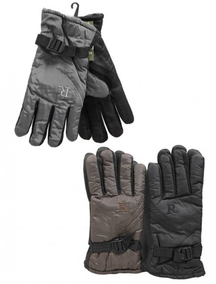 Men Grip Gloves Insulated - Assorted Colors