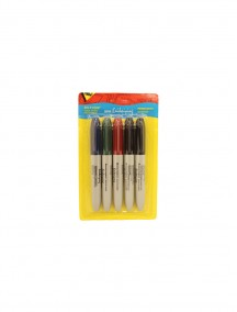 Bold Point Permanent Marker 5pk (Assorted)