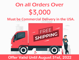 Free Shipping on all orders over $1,000